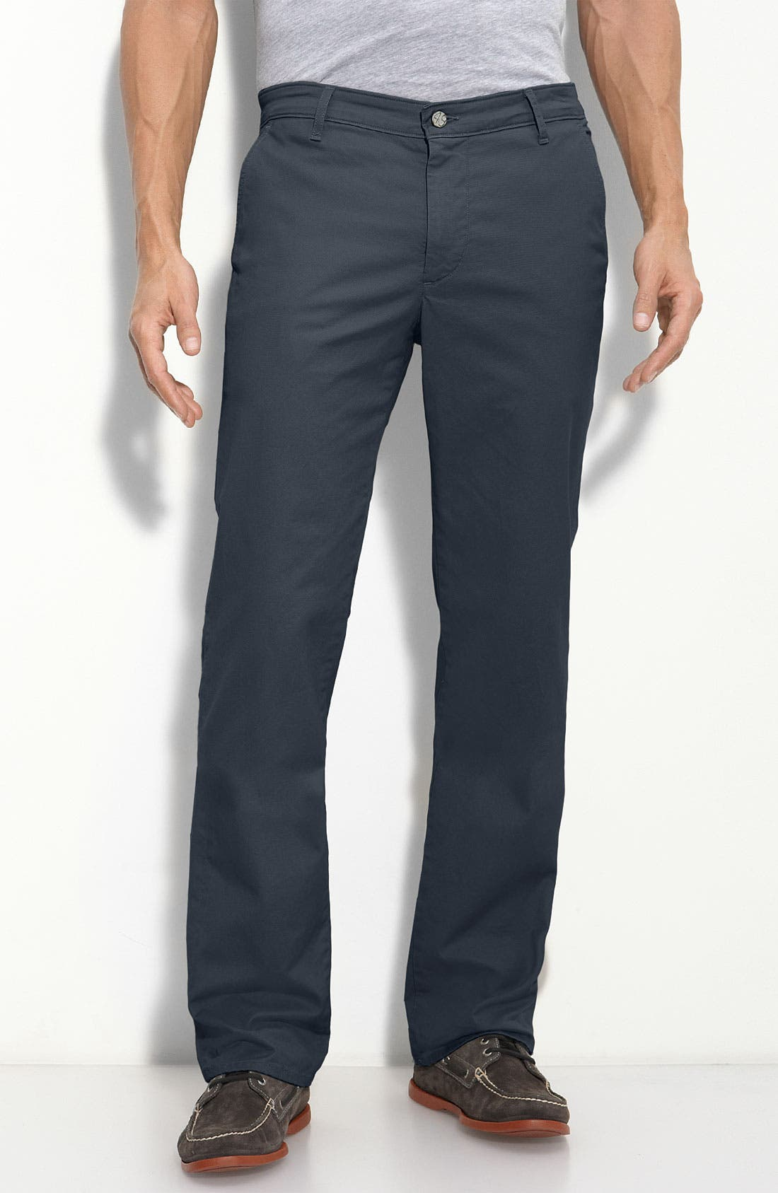 Alternate Image 1 Selected - AG Straight Leg Chinos