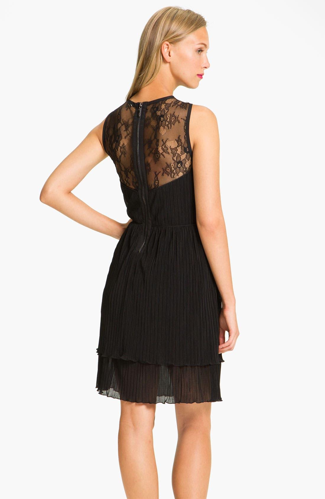 Alternate Image 2  - Jessica Simpson Lace Yoke Tiered Chiffon Dress