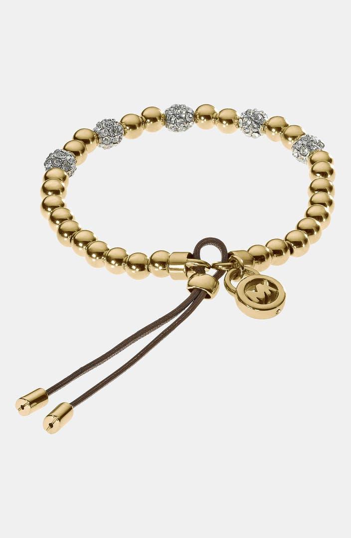 michael kors bead crystal stretch bracelet nordstrom. Black Bedroom Furniture Sets. Home Design Ideas