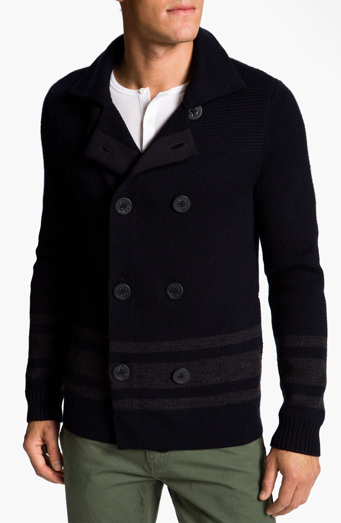 Alternate Image 1 Selected - Vince Wool Knit Peacoat