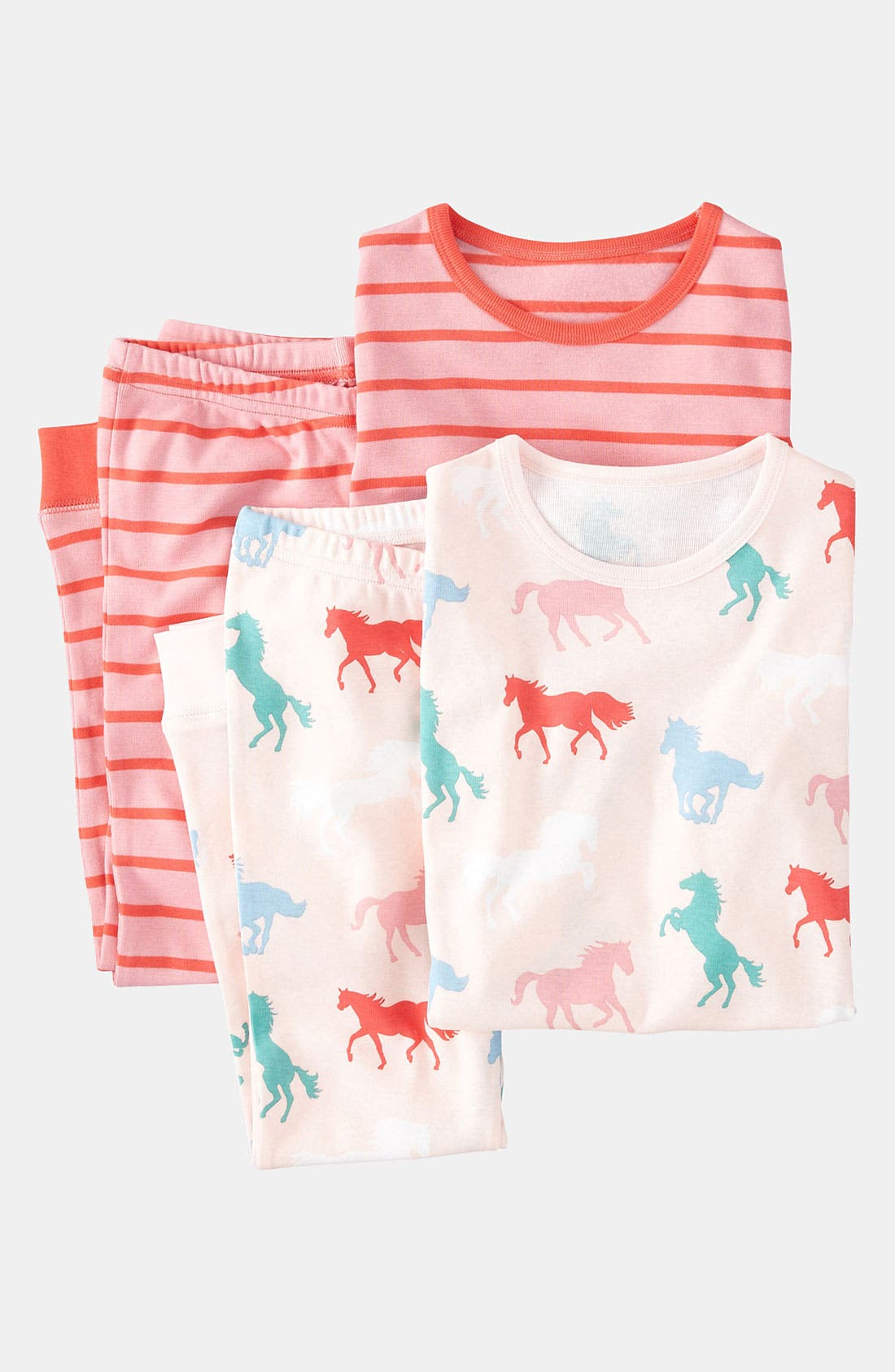 Main Image - Mini Boden Fitted Pajamas (2-Pack) (Toddler, Little Girls & Big Girls)