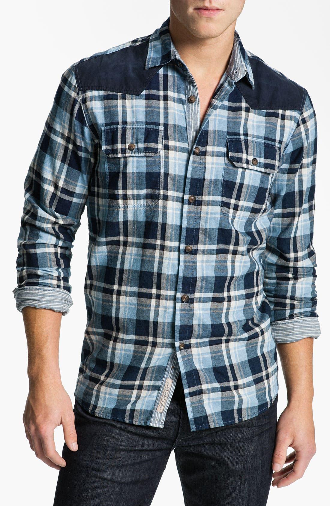 Alternate Image 1 Selected - Just A Cheap Shirt Long Sleeve Woven Shirt
