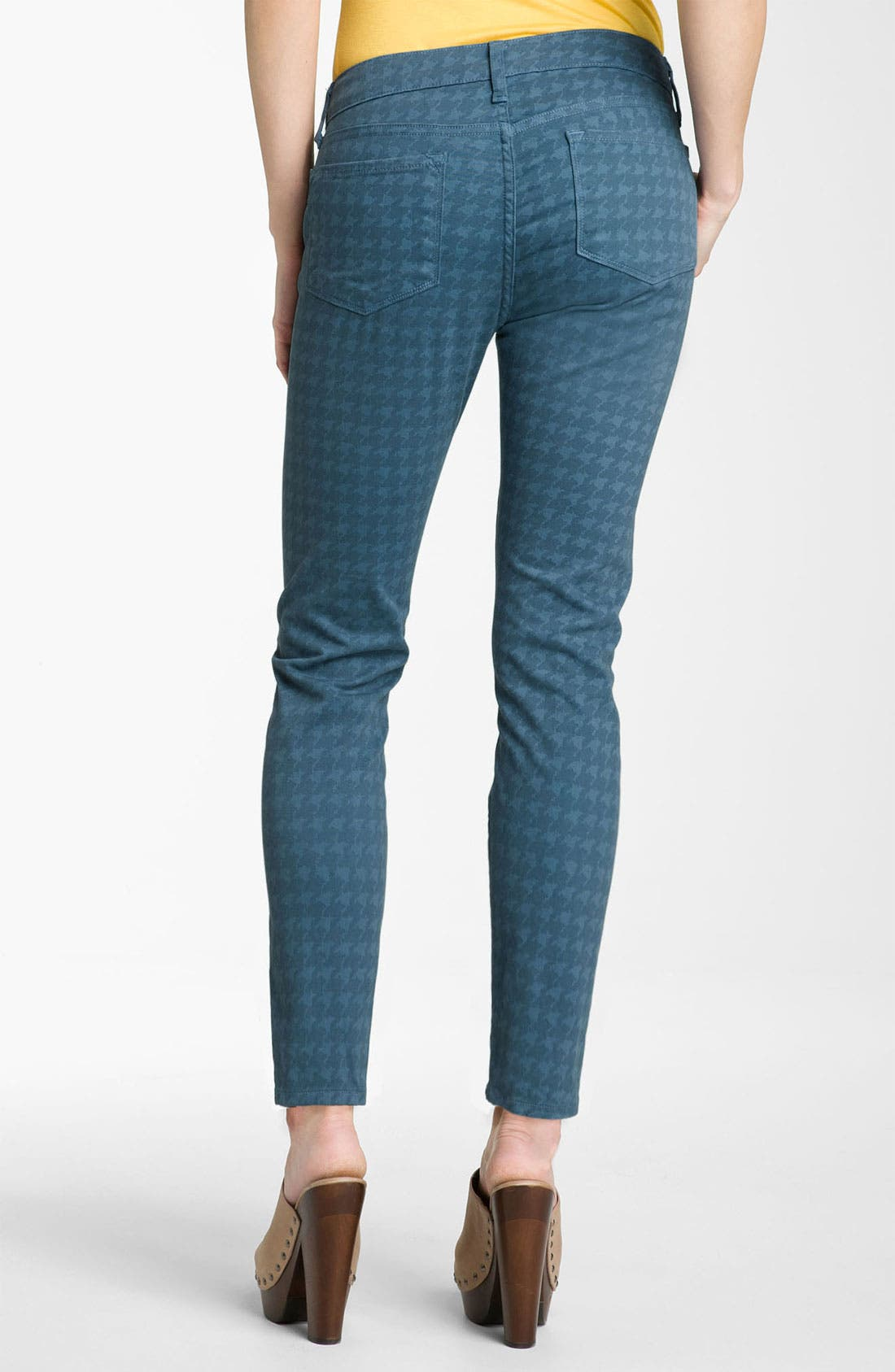 Alternate Image 2  - Blue Essence Houndstooth Twill Ankle Jeans (Petite)