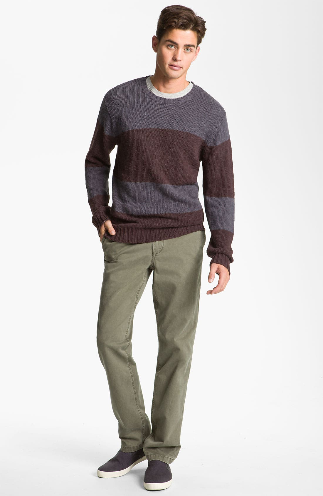 Alternate Image 4  - VSTR 'Saltie' Stripe Crewneck Sweater