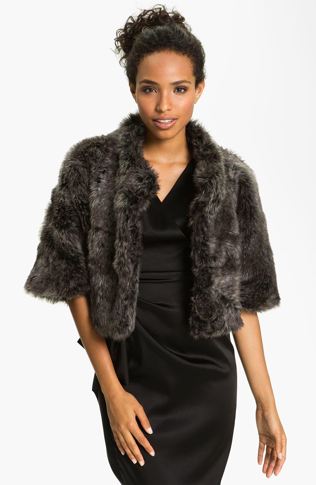 Alternate Image 3  - Eliza J Dolman Sleeve Faux Fur Bolero