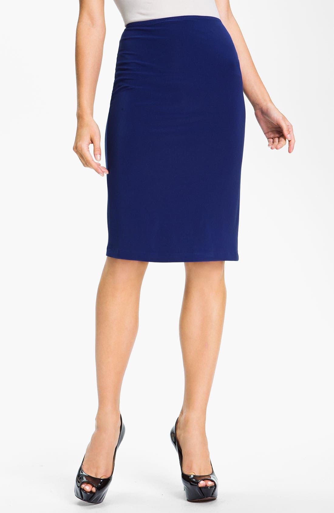 Alternate Image 1 Selected - KAMALIKULTURE Pull-On Knit Pencil Skirt