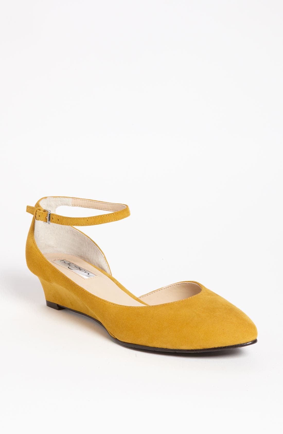 Alternate Image 1 Selected - HALOGEN BIANCA ANKLE STRAP LOW WEDGE