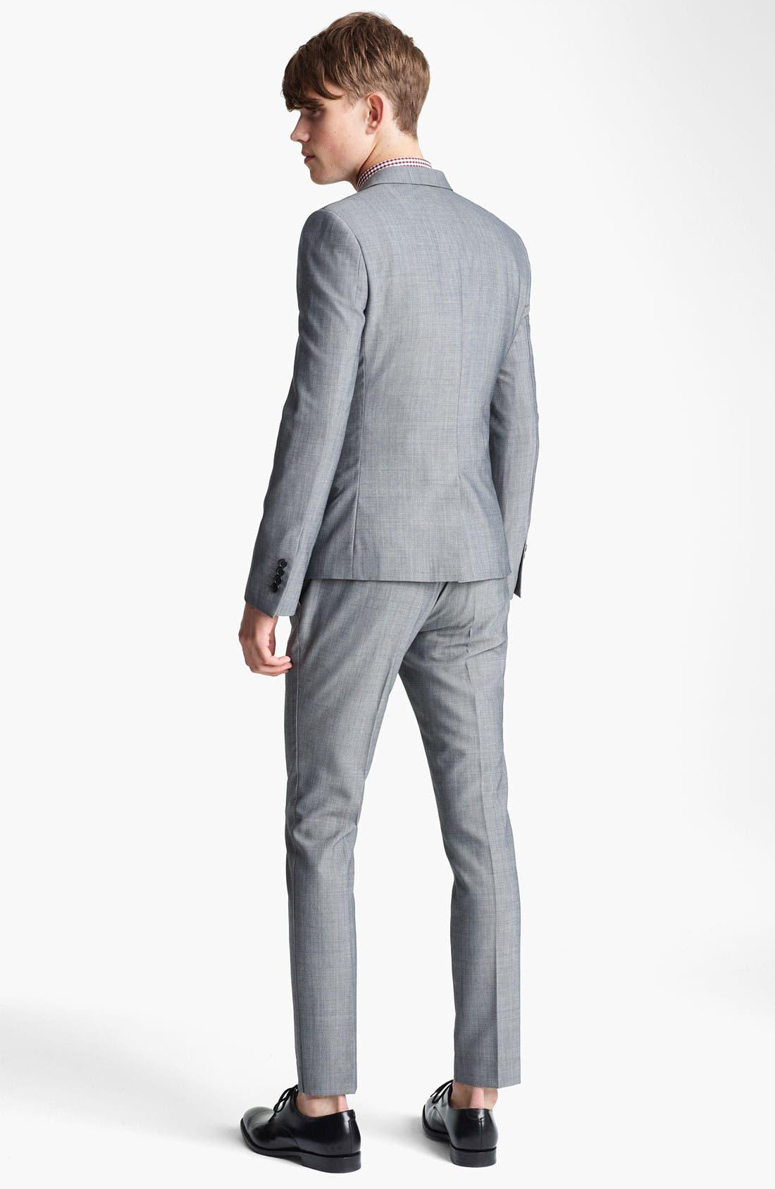 Alternate Image 5  - Topman Skinny Three Button Blazer