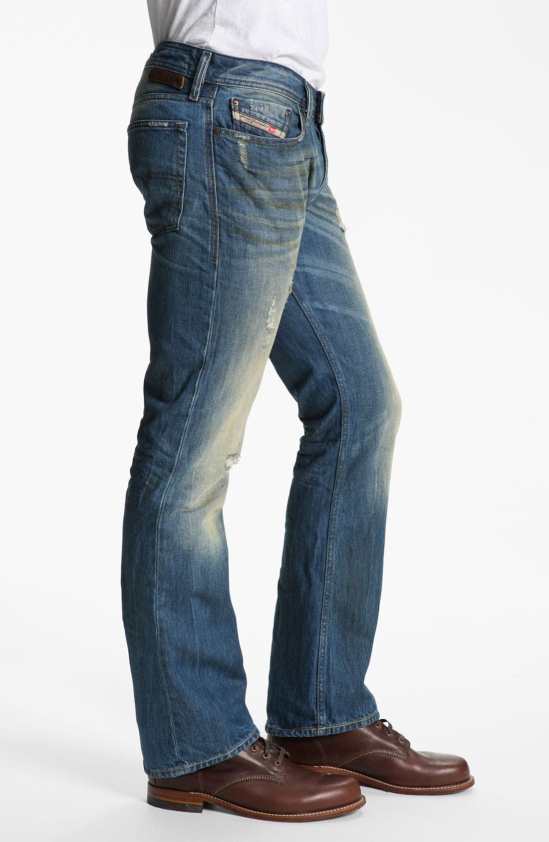 Alternate Image 3  - DIESEL® 'New Fanker' Slim Bootcut Jeans (0075I)