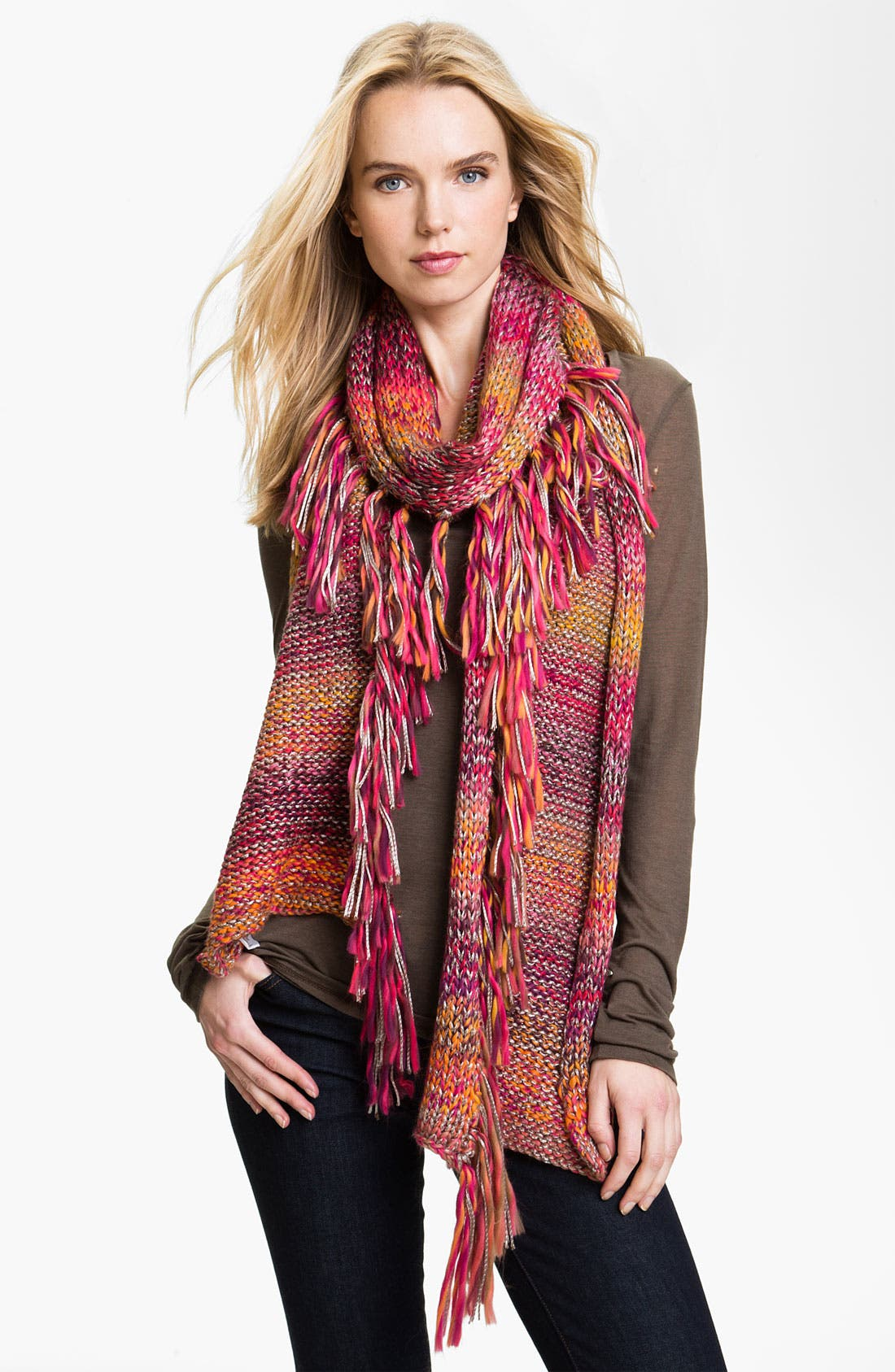 Main Image - Laundry by Shelli Segal Space Dye Chunky Knit Scarf
