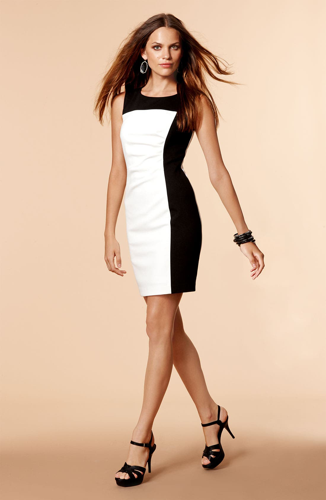 Alternate Image 4  - Calvin Klein Colorblock Ponte Sheath Dress