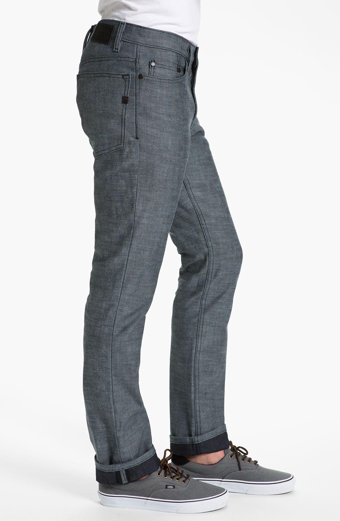 Alternate Image 3  - Comune 'Ricky' Slim Straight Leg Jeans (Speckled Backside of Indigo)