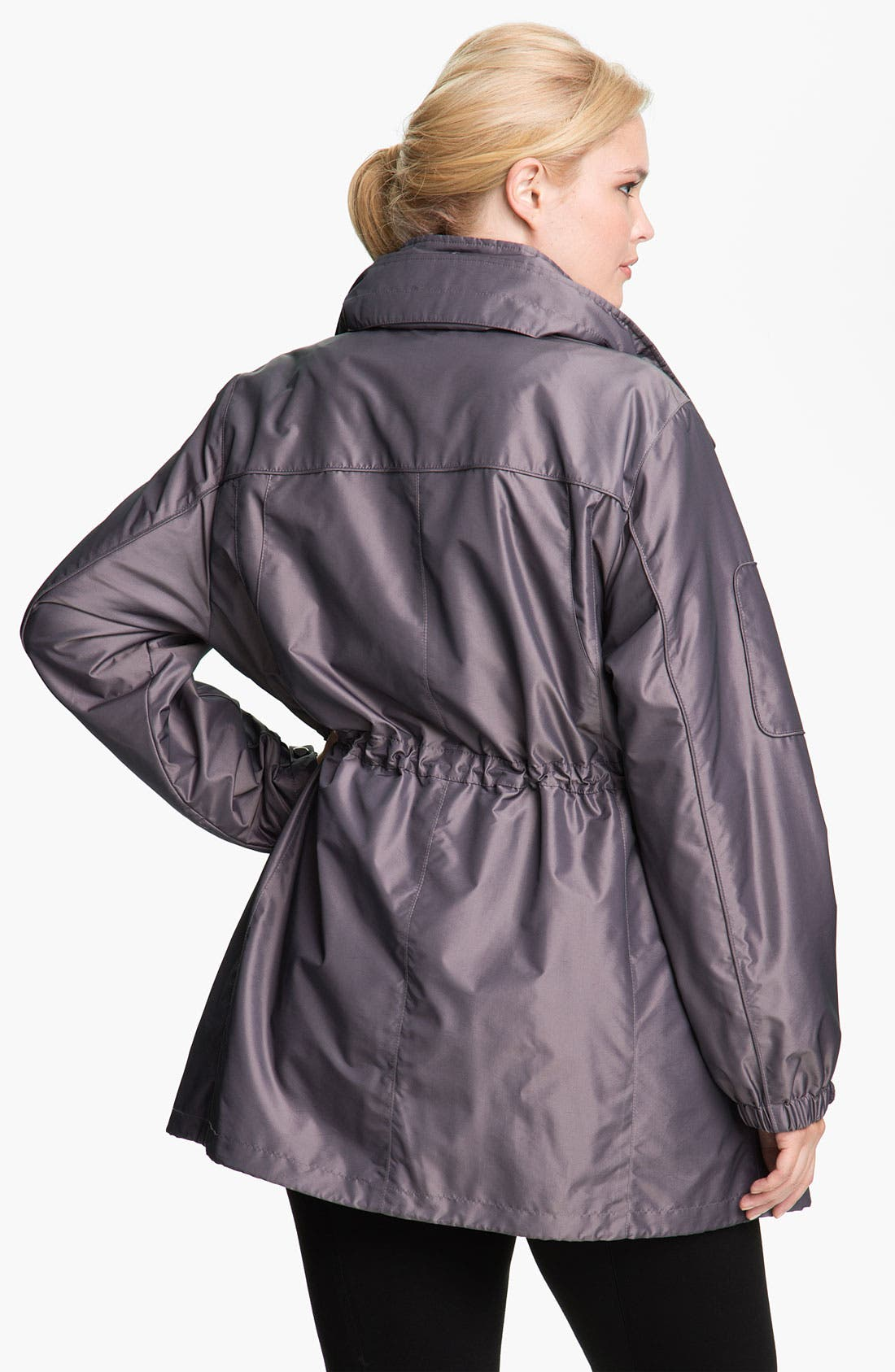 Alternate Image 2  - Gallery Water Repellent Anorak with Detachable Liner (Plus)