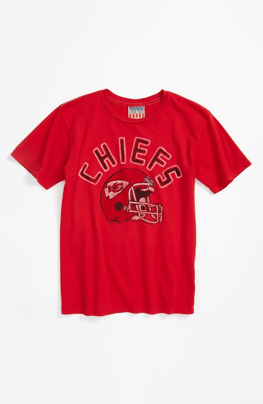 Alternate Image 1 Selected - Junk Food 'Kansas City Chiefs' T-Shirt (Little Boys & Big Boys)