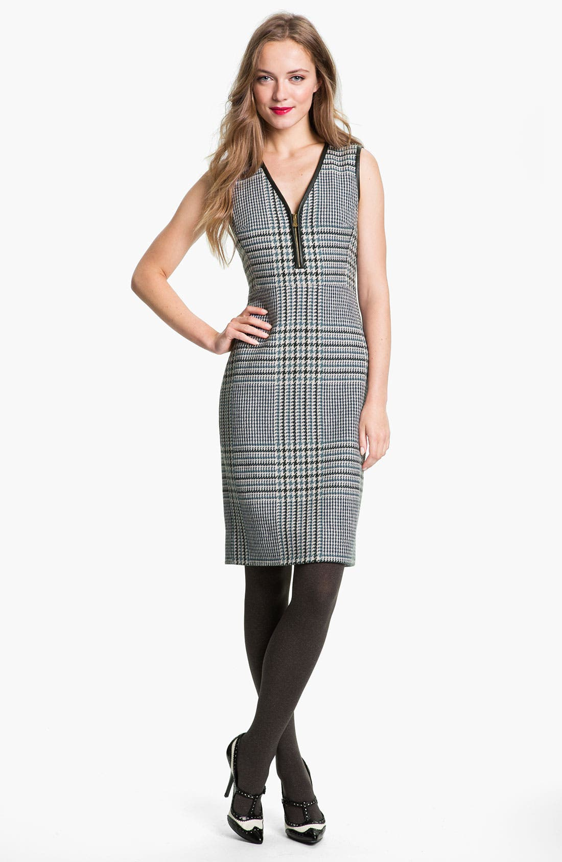 Main Image - Tory Burch 'Thandie' Stretch Wool Shift Dress (Online Exclusive)