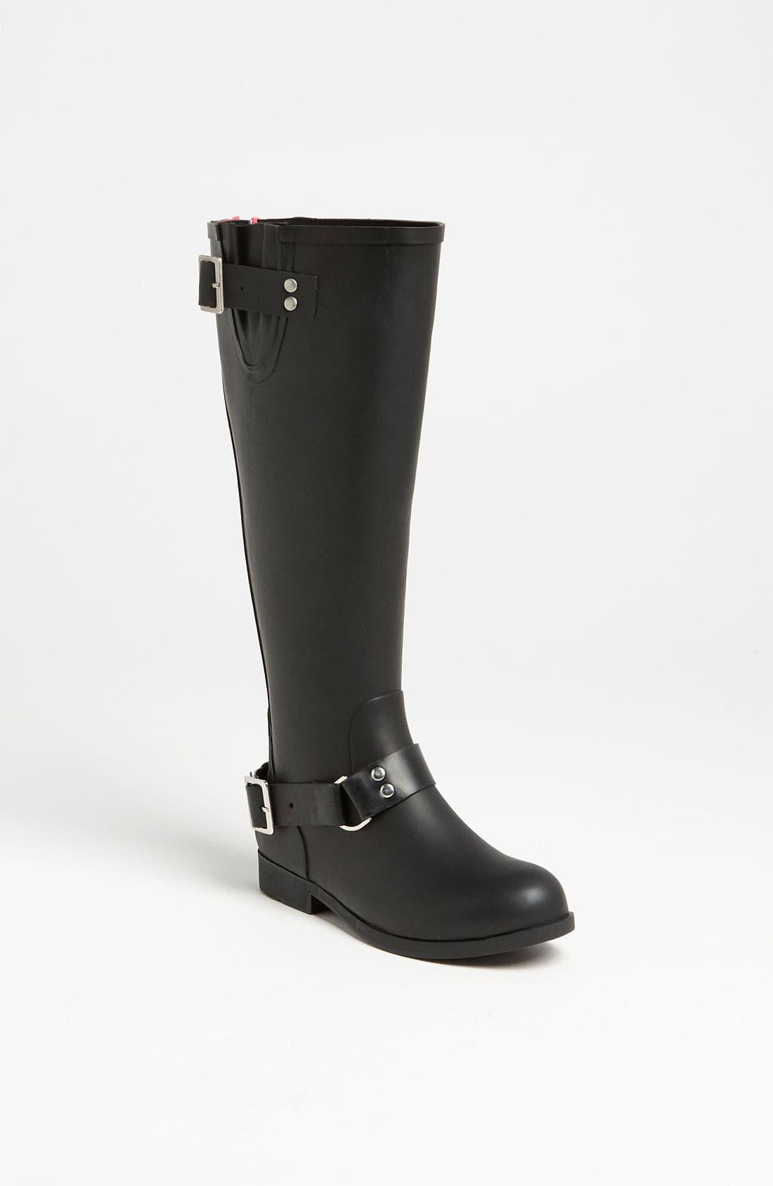 Alternate Image 1 Selected - Steve Madden 'Tsunamii' Contrast Zip Rain Boot (Women)