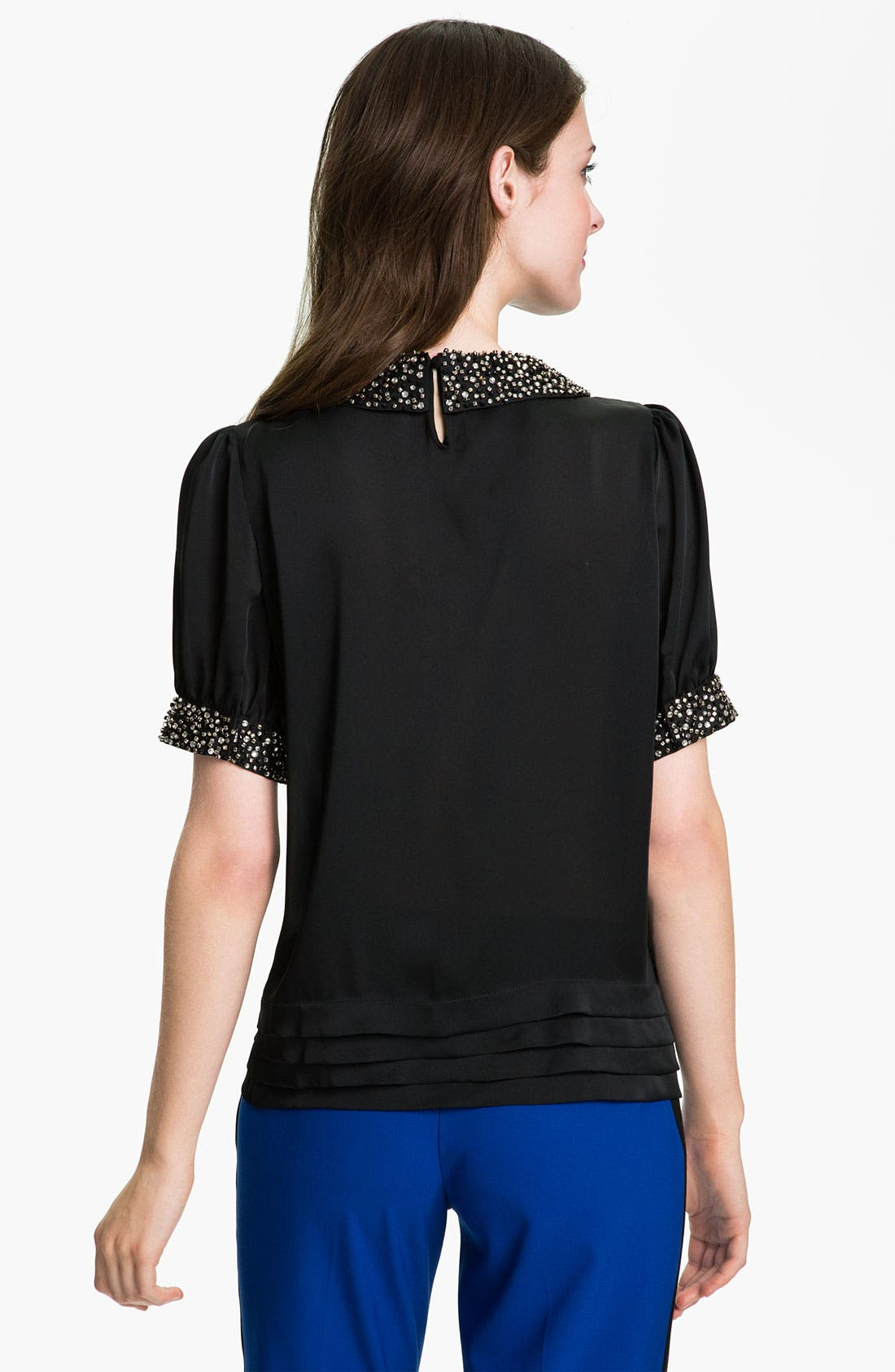 Alternate Image 2  - Vince Camuto Jewel Trim Blouse with Camisole