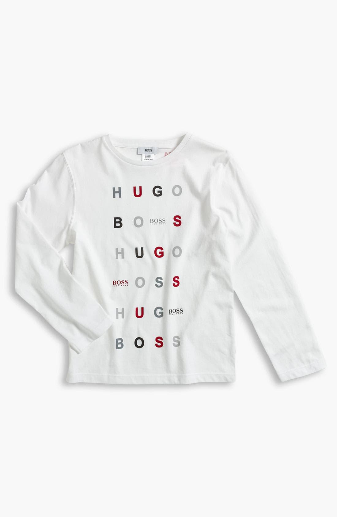 Alternate Image 1 Selected - BOSS Kidswear Logo T-Shirt (Little Boys & Big Boys)