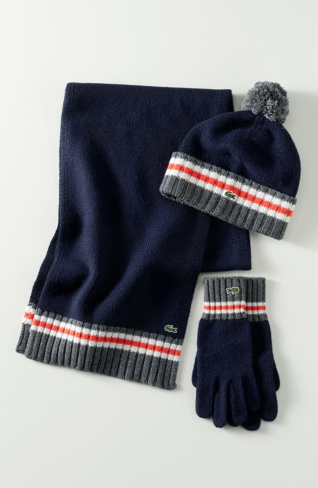 Alternate Image 3  - Lacoste 'Toboggan' Knit Scarf