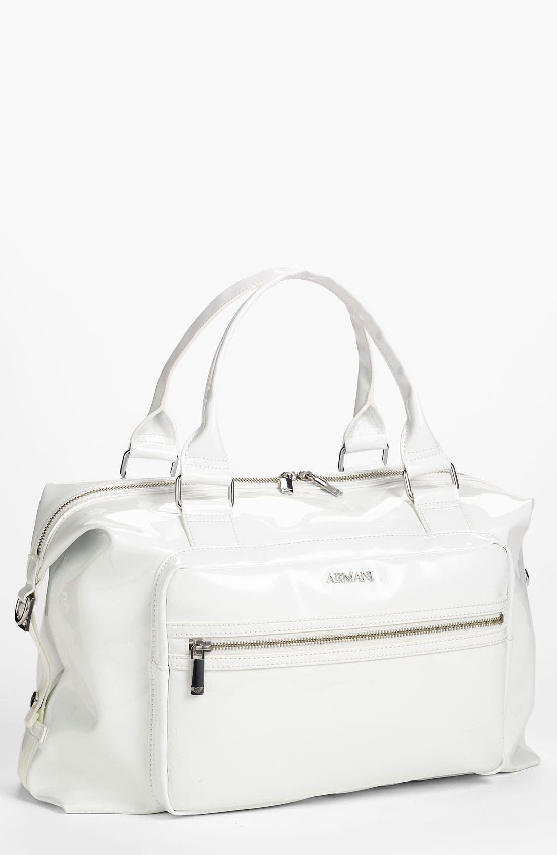 Main Image - Armani Junior Patent Diaper Bag