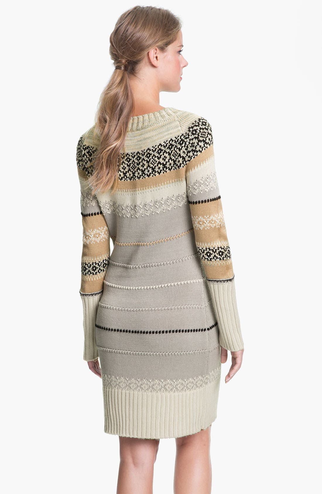Alternate Image 2  - Jessica Simpson Ribbed Trim Sweater Dress