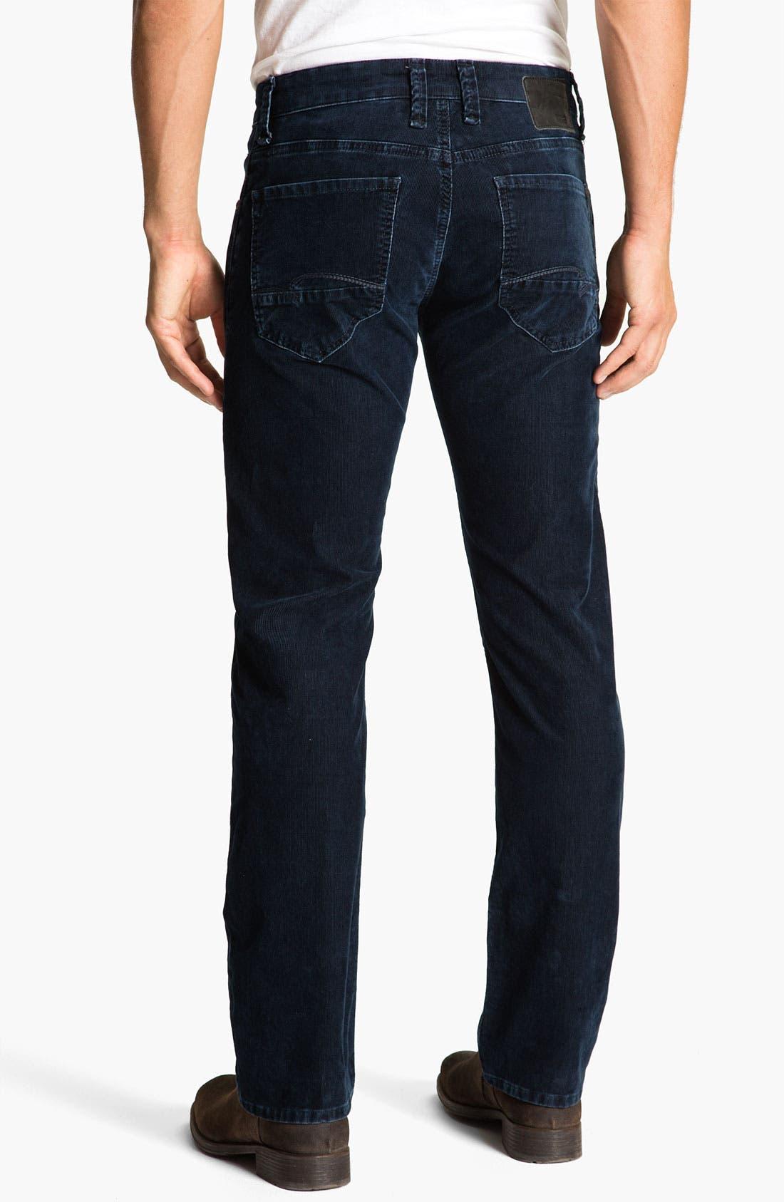 Alternate Image 1 Selected - Mavi Jeans 'Zach' Low Rise Straight Leg Corduroy Pants