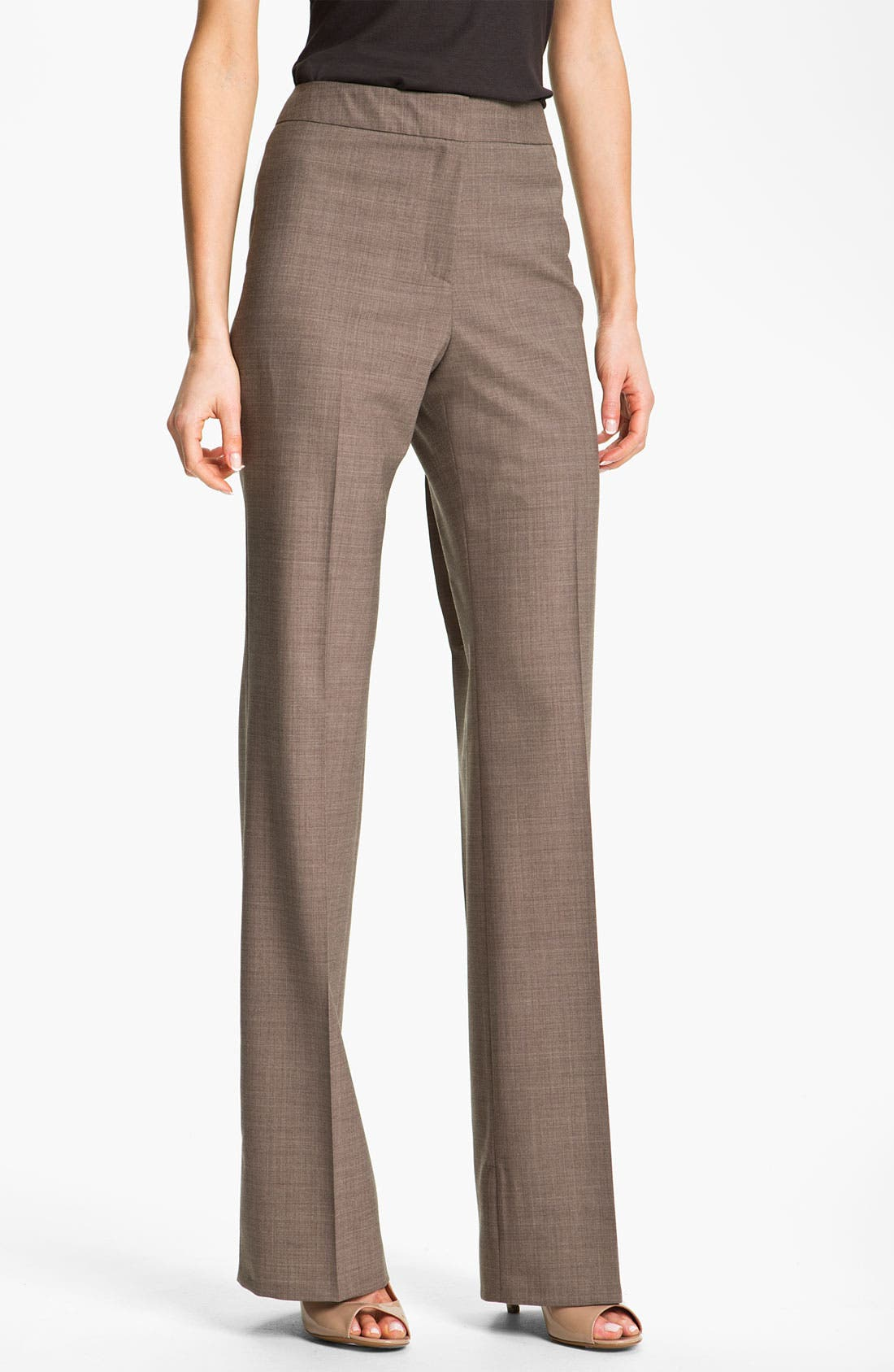 Alternate Image 1 Selected - Santorelli 'Mara' Stretch Wool Pants