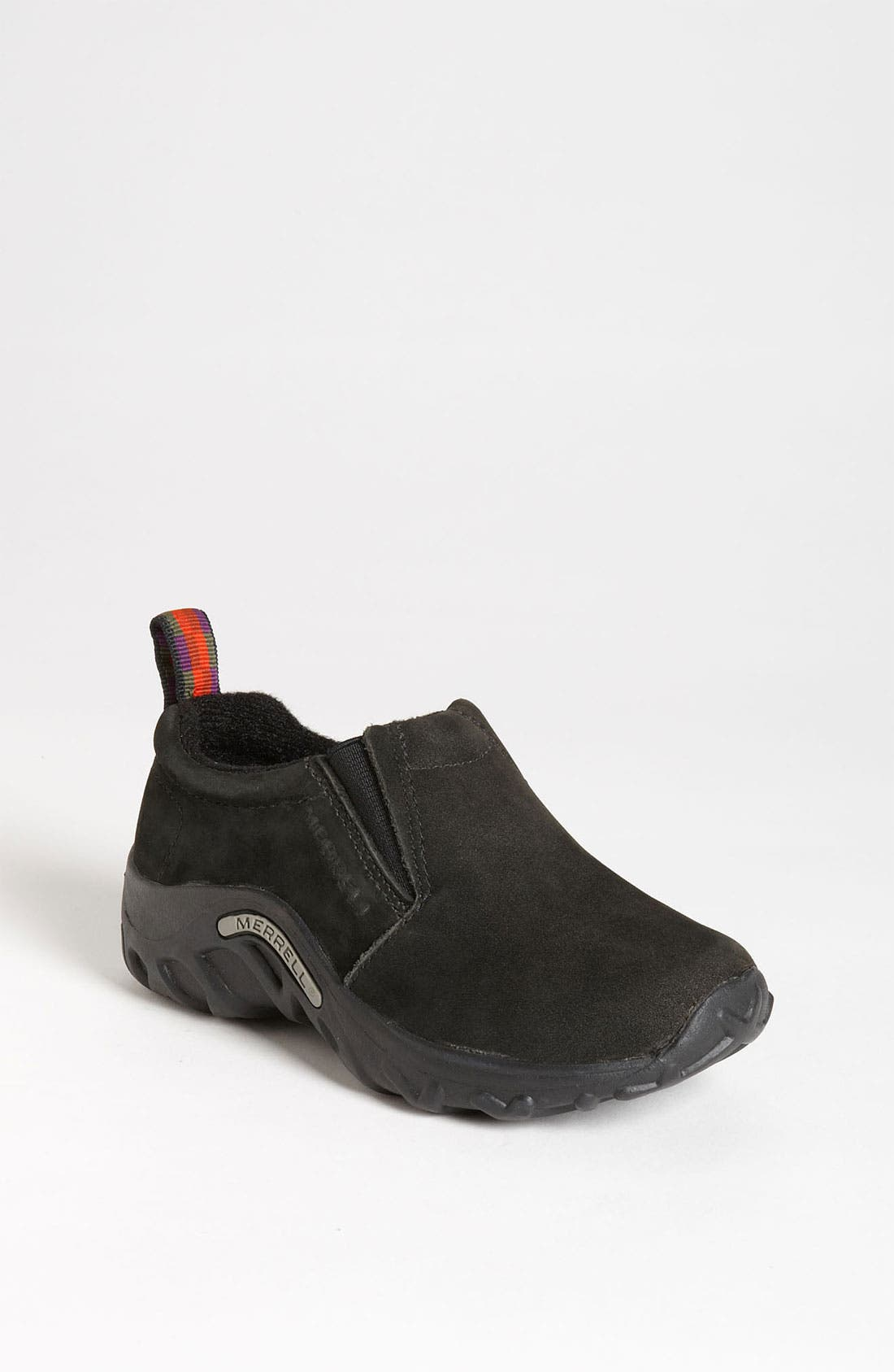 Alternate Image 1 Selected - Merrell 'Jungle Moc' Nubuck Slip-On (Toddler, Little Kid & Big Kid)