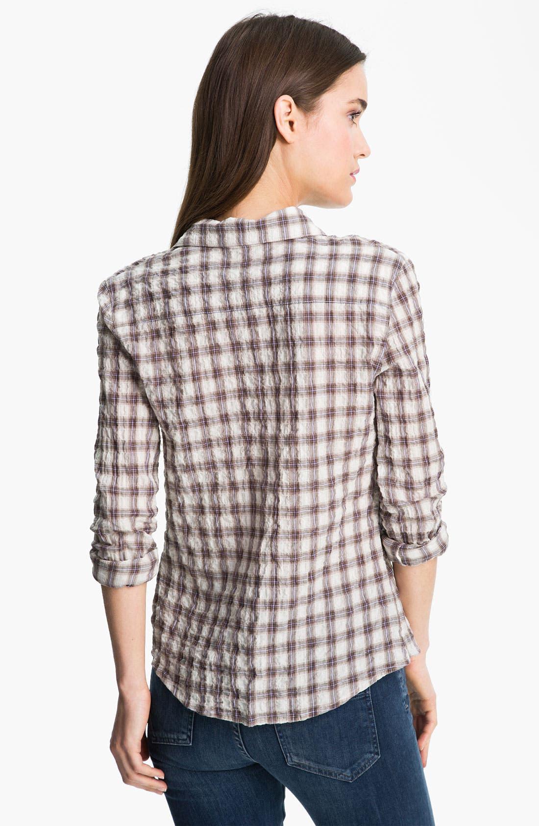 Alternate Image 2  - James Perse 'Tomboy' Plaid Crinkle Shirt