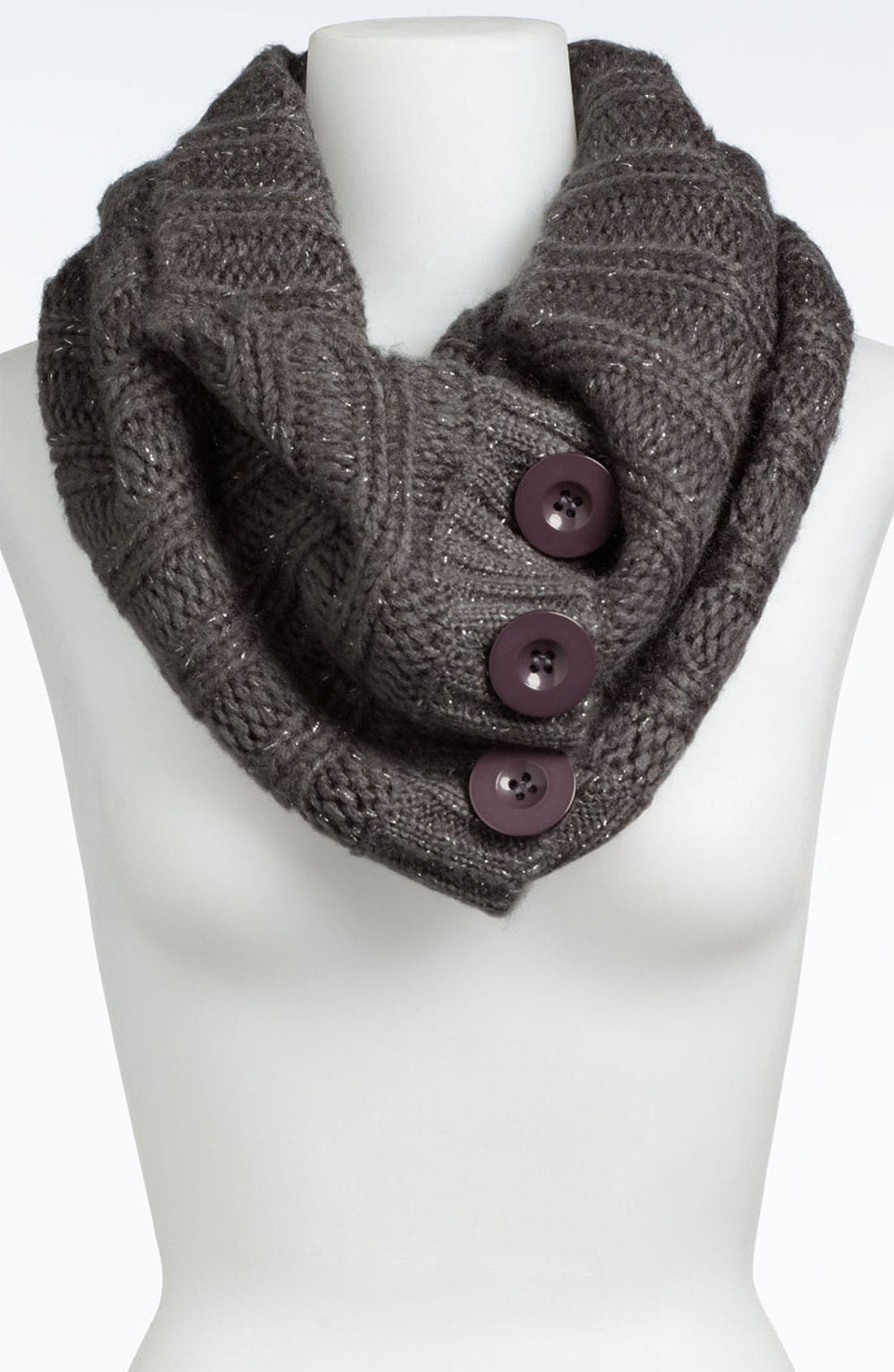 Alternate Image 1 Selected - Steve Madden 'Button Up' Infinity Scarf