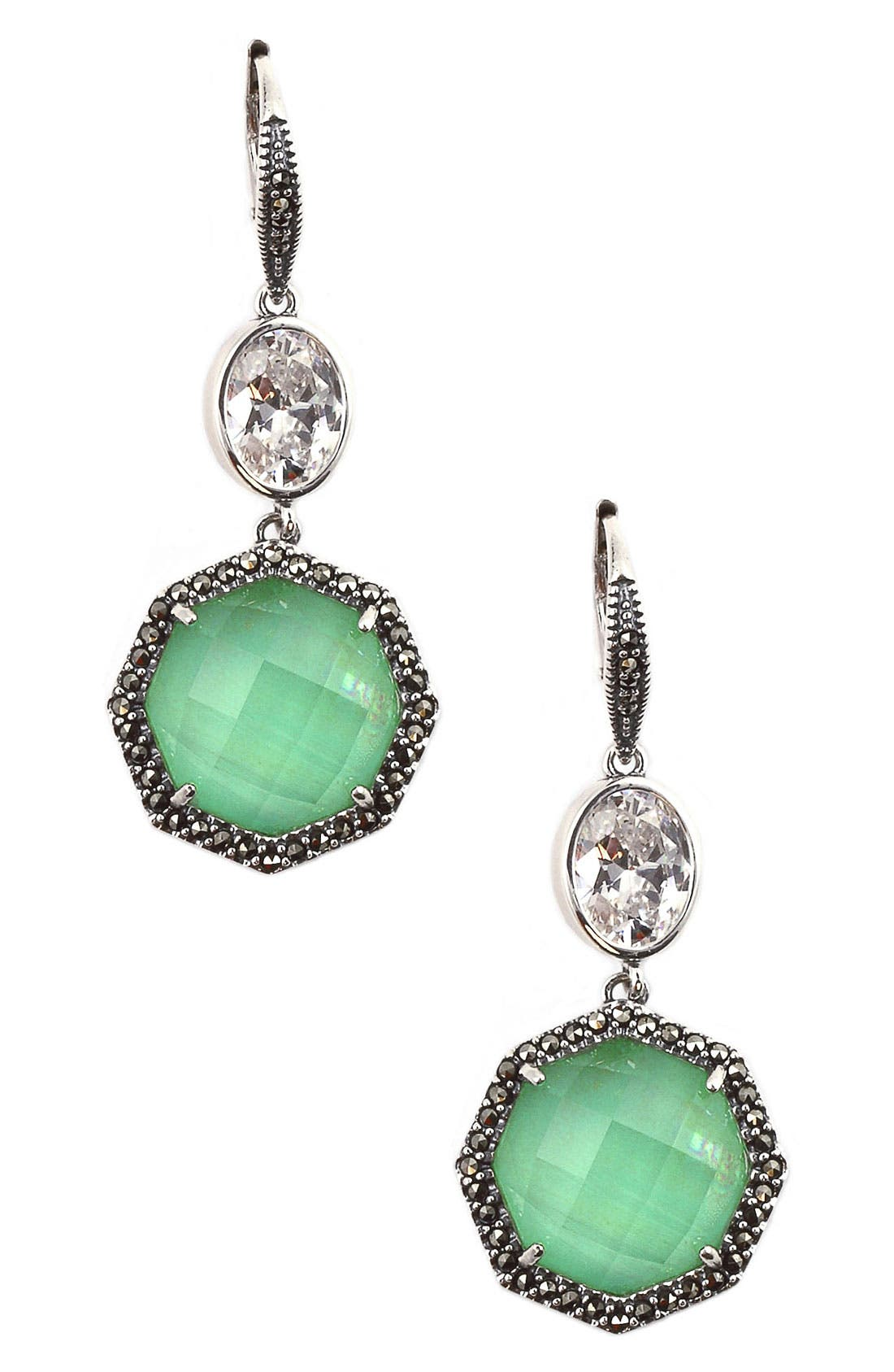 Alternate Image 1 Selected - Judith Jack 'Maldives' Medium Drop Earrings