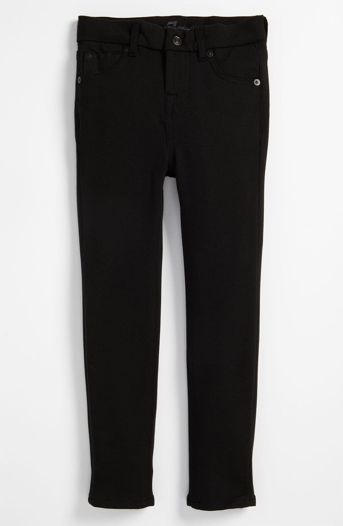 Alternate Image 2  - 7 For All Mankind® Skinny Ponte Knit Pants (Little Girls)