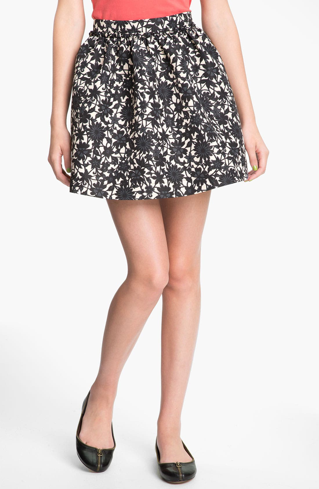Alternate Image 1 Selected - Frenchi® Banded Waist Full Skirt (Juniors)