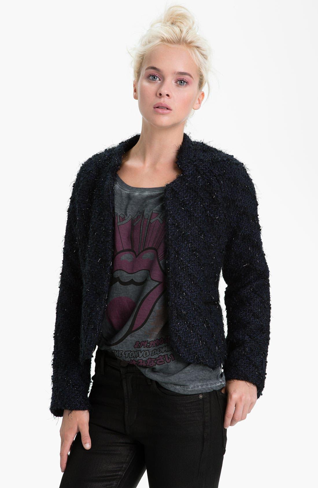 Main Image - Sanctuary 'Far East' Feather Tweed Jacket