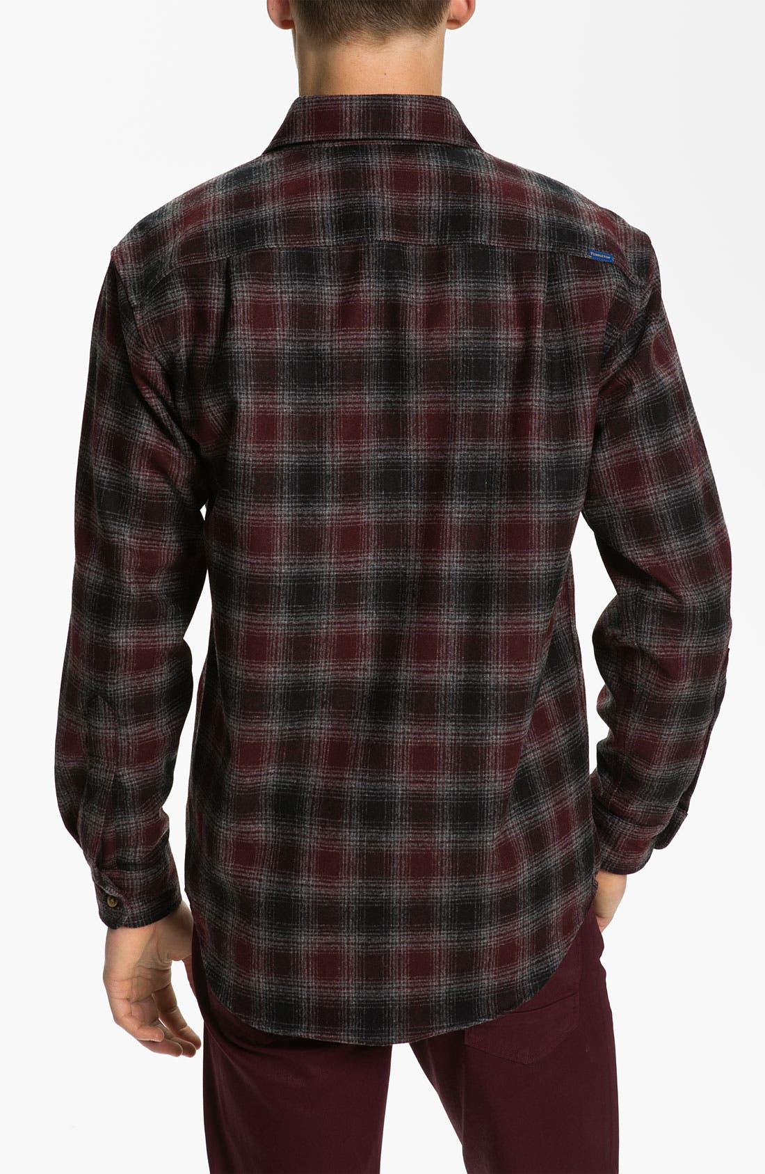 Alternate Image 2  - Pendleton 'Lodge' Fitted Plaid Wool Flannel Shirt