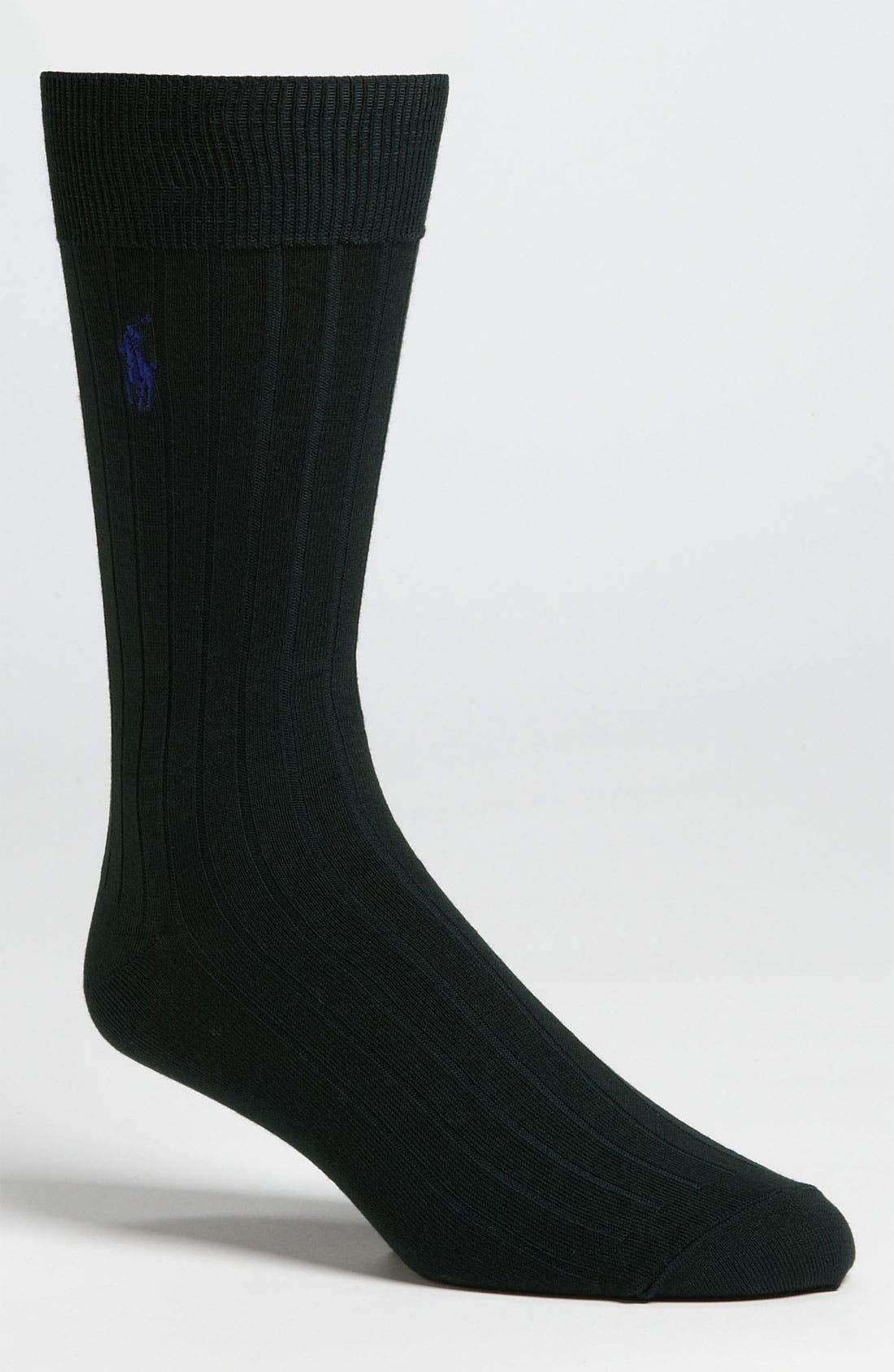 Alternate Image 1 Selected - Polo Ralph Lauren Rib Knit Cotton Socks