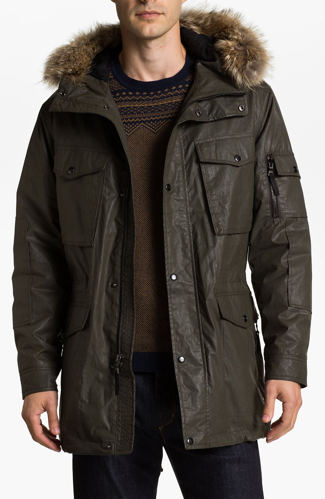 Alternate Image 1 Selected - Sam Field Jacket with Genuine Coyote Trim (Online Exclusive)
