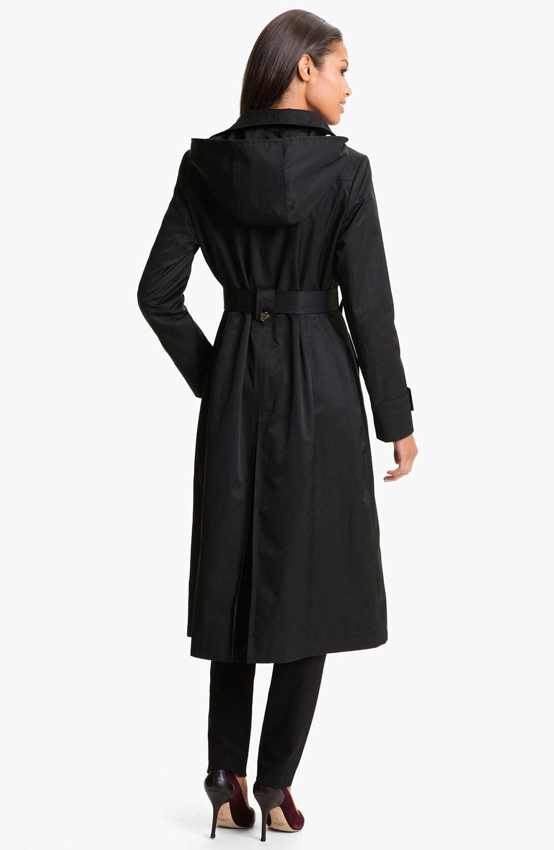 Alternate Image 2  - DKNY Long Belted Trench
