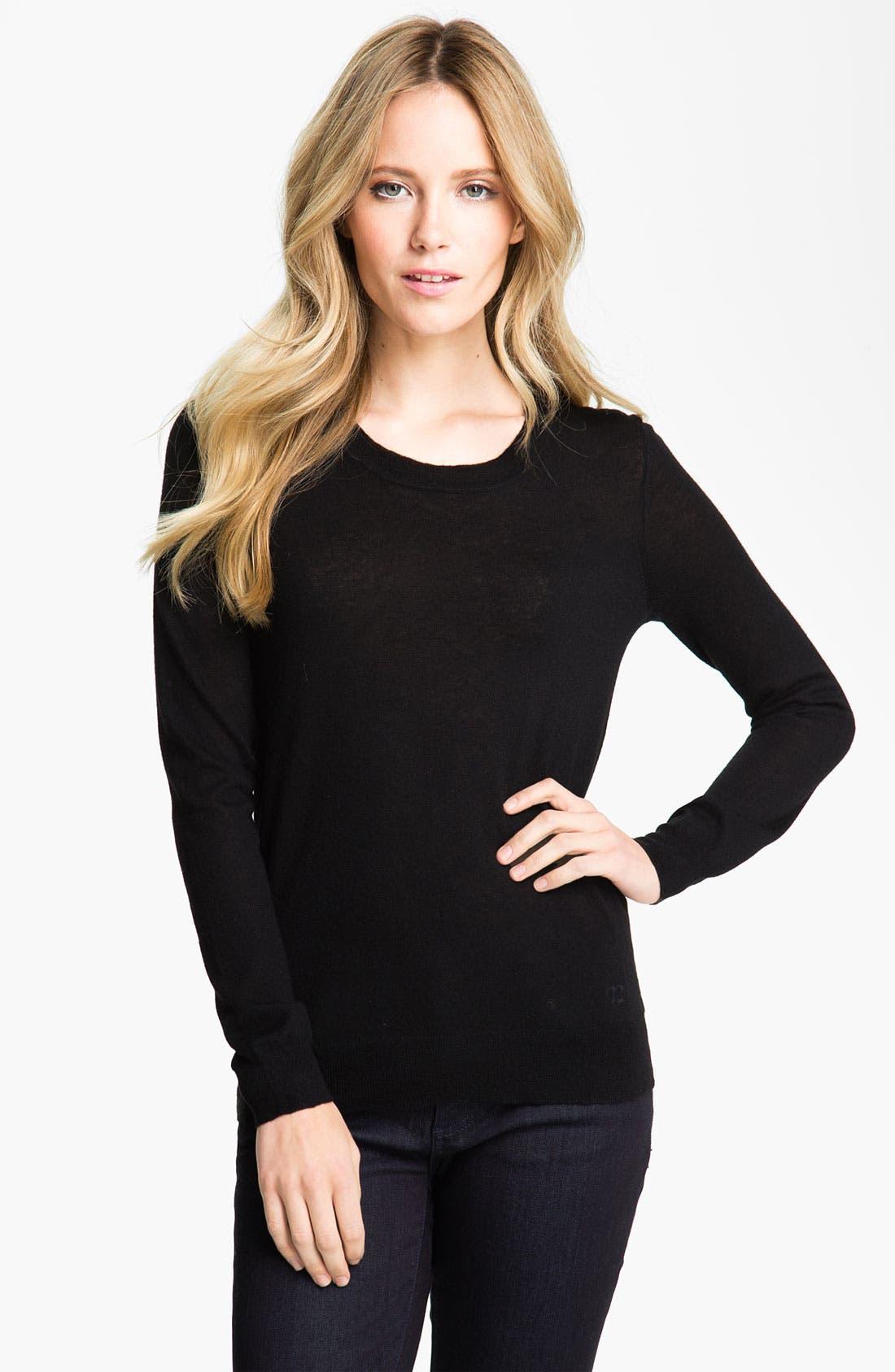 Main Image - Tory Burch 'Iberia' Cashmere Logo Sweater