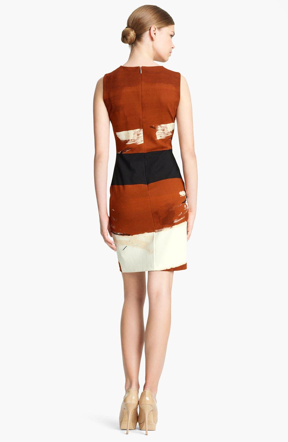 Alternate Image 2  - Max Mara 'Bosco' Brushstroke Crepe Dress