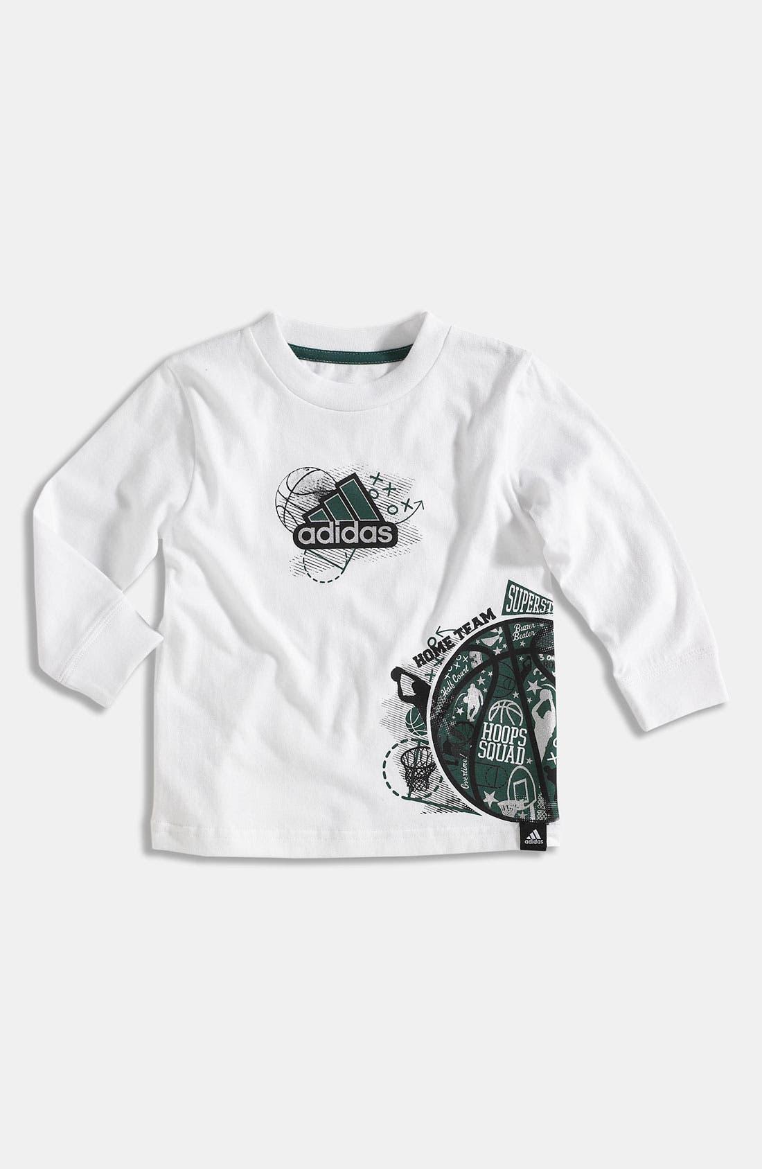 Alternate Image 1 Selected - adidas 'Playbook' T-Shirt (Toddler)