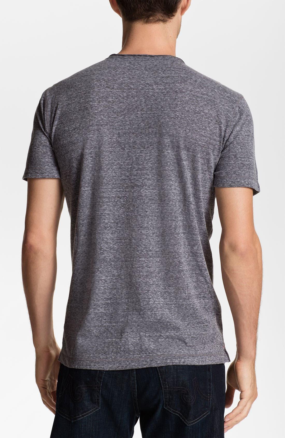 Alternate Image 2  - Daniel Buchler Heathered Cotton Blend V-Neck T-Shirt