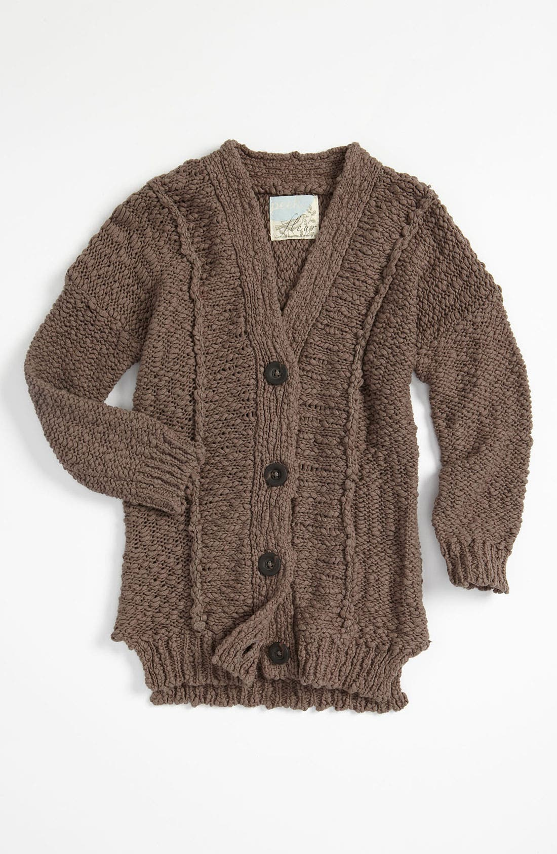 Alternate Image 1 Selected - Peek Fisherman Cardigan (Toddler, Little Girls & Big Girls)