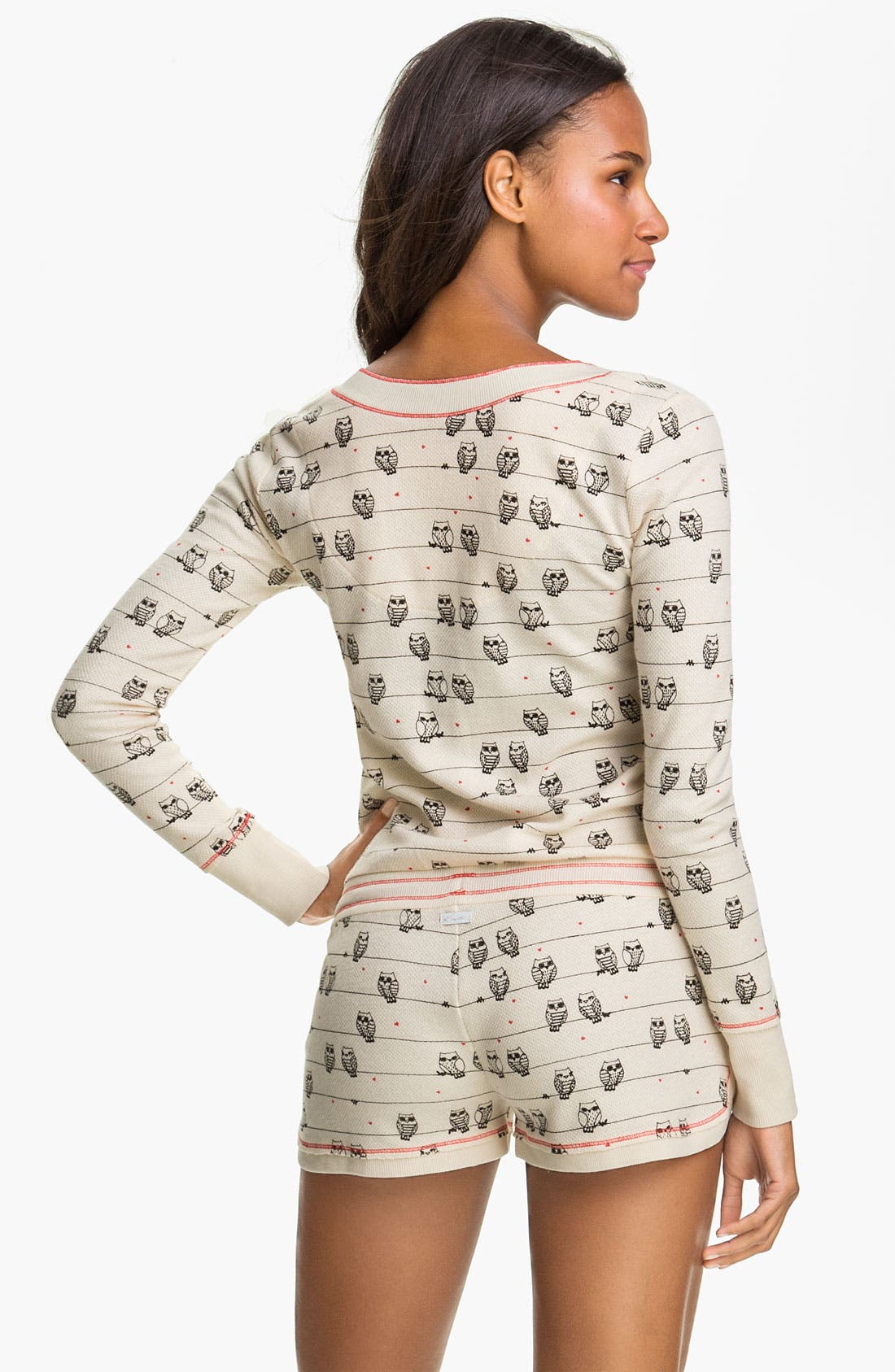 Alternate Image 2  - Kensie 'Quite the Character' Thermal Knit Romper
