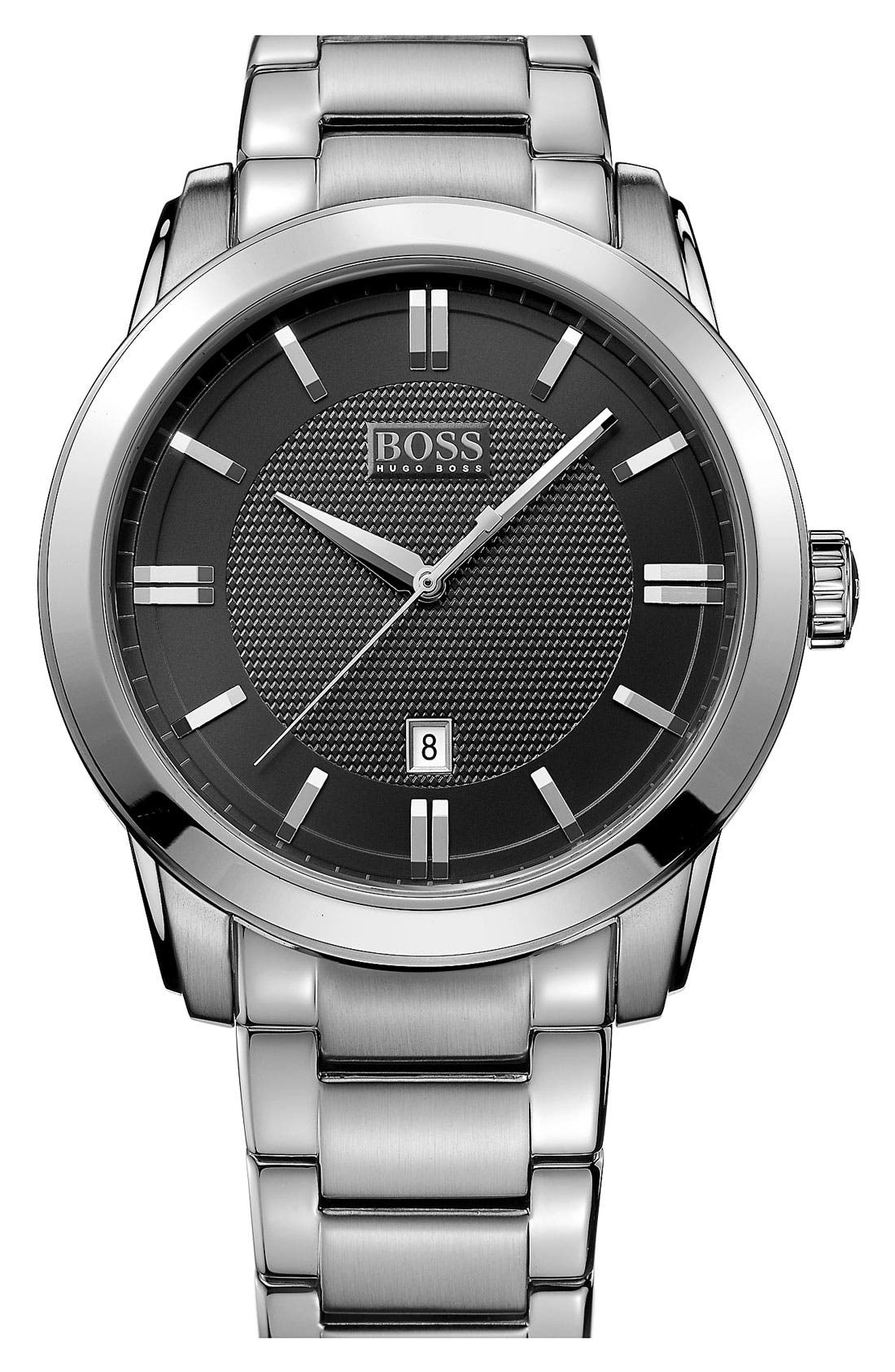 Alternate Image 1 Selected - BOSS HUGO BOSS Round Bracelet Watch, 44mm