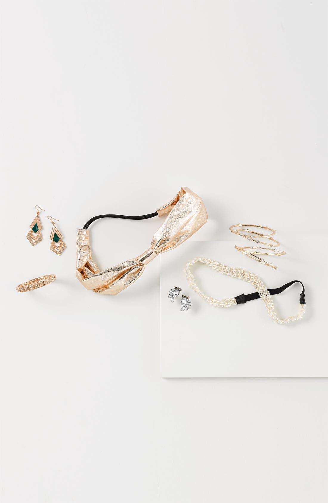 Alternate Image 2  - Carole Metallic Bow Headband