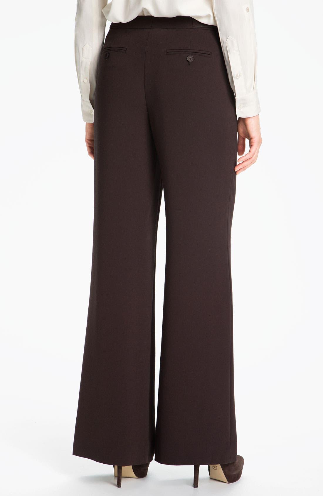 Alternate Image 2  - Nordstrom Collection Wide Leg Crepe Pants