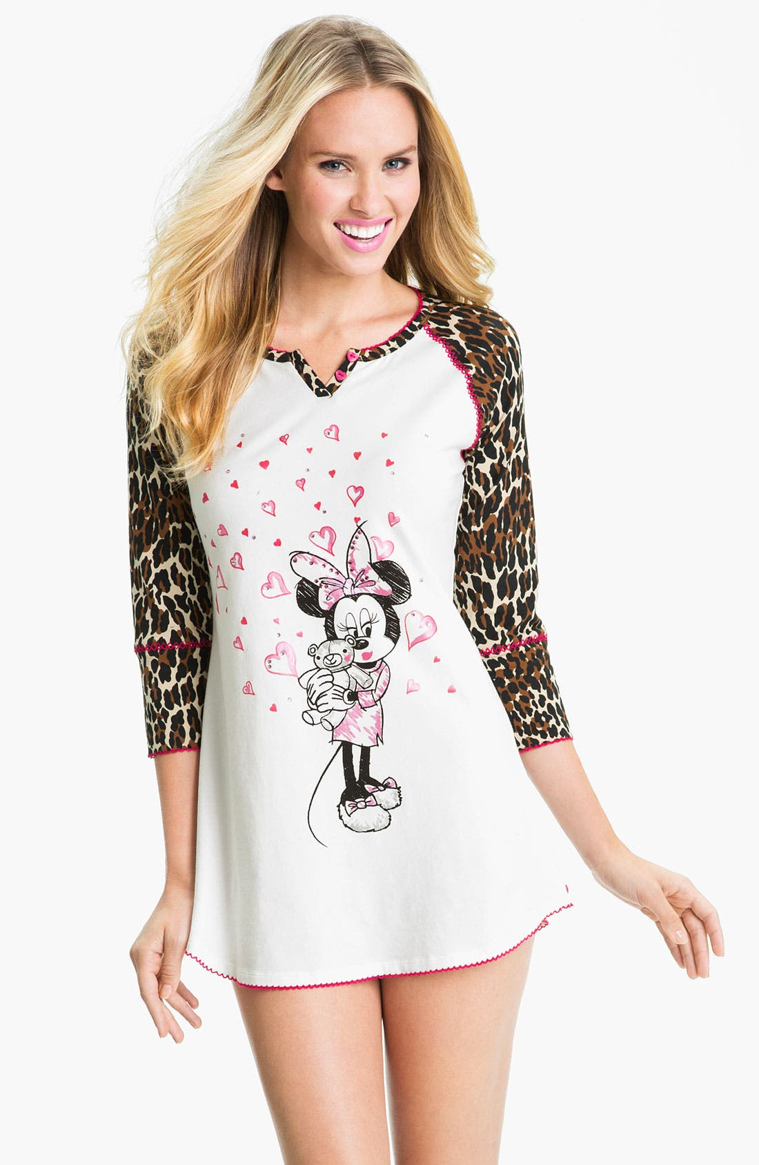 Main Image - Betsey Johnson 'Minnie' Stretch Cotton Sleep Shirt