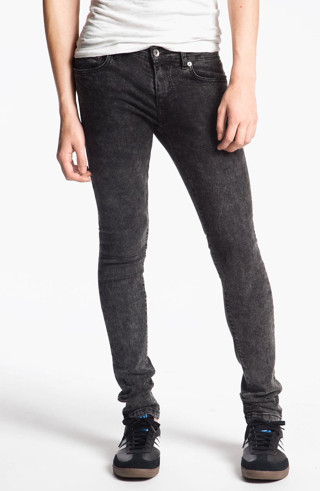 Alternate Image 1 Selected - Topman 'Spray On' Skinny Jeans (Acid)