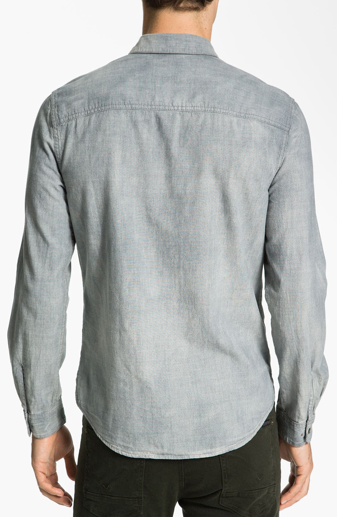 Alternate Image 2  - life/after/denim Reversible Chambray Shirt